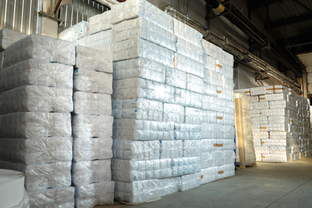 storehouse: Paper products and goods in storehouse