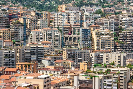 carlo: Monaco Monte Carlo mountain view summer day Stock Photo