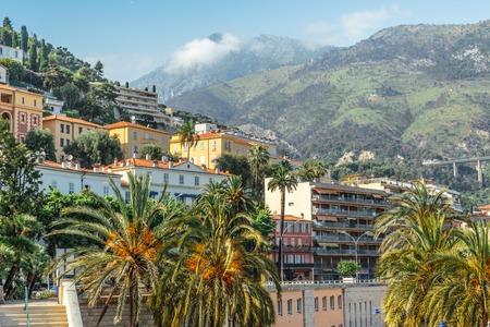 Monaco Monte Carlo mountain view summer day Stock Photo