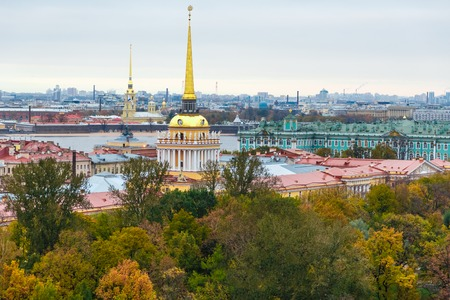 colonnade: Saint Petersburg view from Isaacs Cathedral colonnade