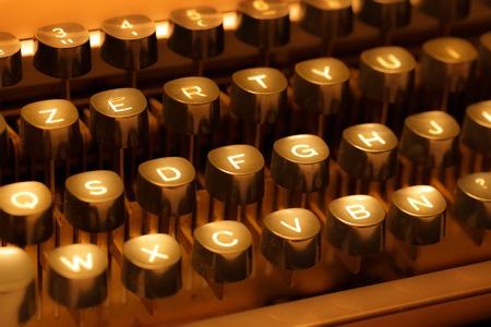 Keyboard of typewriter in sepia toning Stock Photo