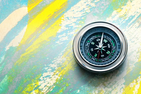 New compass in closeup as single object