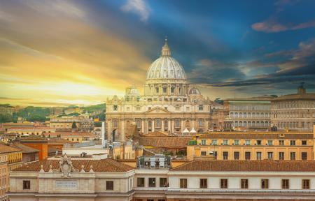 Rome city Vatican skyline view Stok Fotoğraf - 120526837
