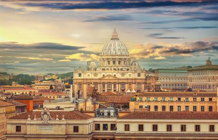 Rome city Vatican skyline view