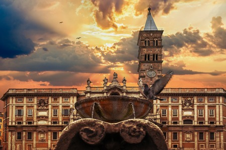 Basilica Santa Maria Maggiore Rome Italy Stok Fotoğraf