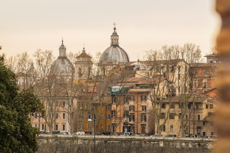 View of old town Rome skyline