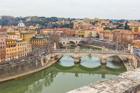 Rome city skyline view Stok Fotoğraf