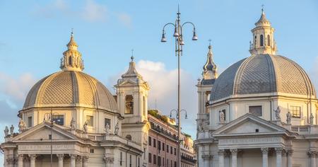 Churches at  Piazza del Popolo