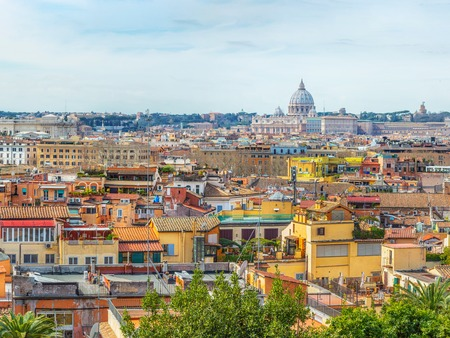 Rome city view from the Pincio Terrace