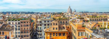 Rome city view from Spanish Steps Stok Fotoğraf - 120508661