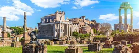 Roman Forum in sunny day, Rome, Italy Stok Fotoğraf - 120508670