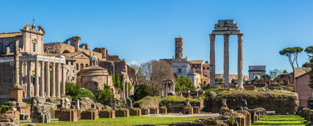 Roman Forum in sunny day, Rome, Italy