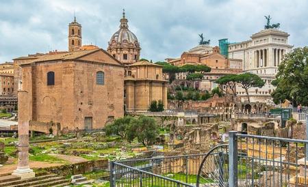 At Roman Forum, Rome, Italy Stok Fotoğraf - 120508688