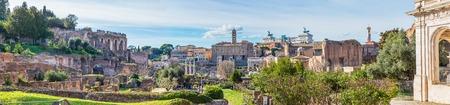 Roman Forum in sunny day, Rome, Italy Stok Fotoğraf - 120508705