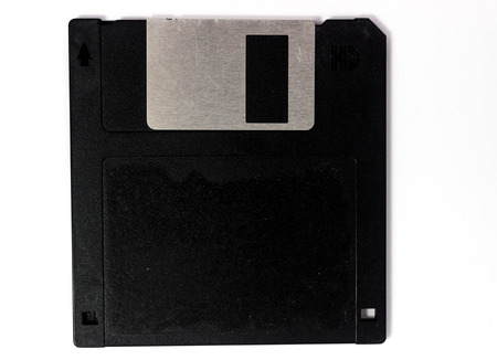 3.5 floppy disk, high-density diskettes on white background.