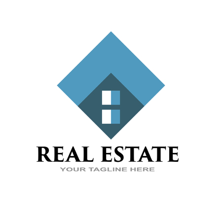 simple real estate company logo eps 10 向量圖像