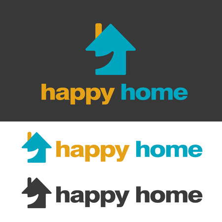 Simple House and Real Estate Logo Illustration