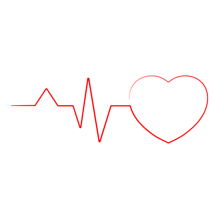 rate: Heartbeat Line Heart Cardio Ekg Isolated On A Background. Realistic Vector Illustration. Healthcare