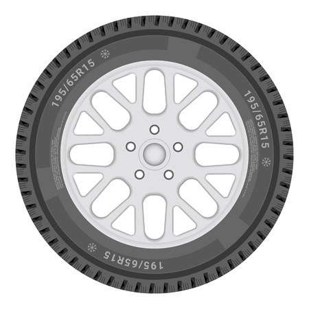 Car Wheel Isolated On A White Background. Vector.