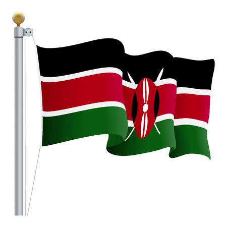 kenya: Waving Kenya Flag