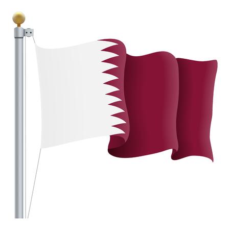 カタールの旗を振ってください。