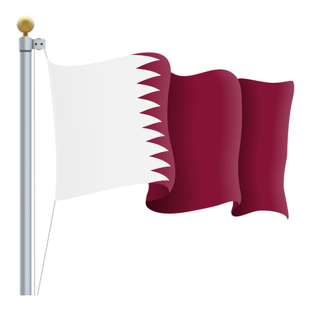 Waving Qatar Flag