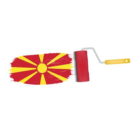 Brush stroke of a national flag icon. Illustration