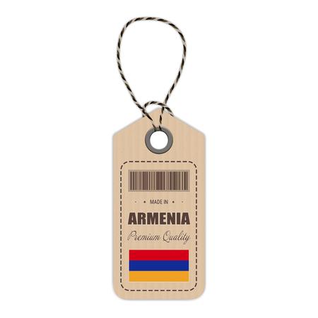 Armenia flag hang tag design. Illustration