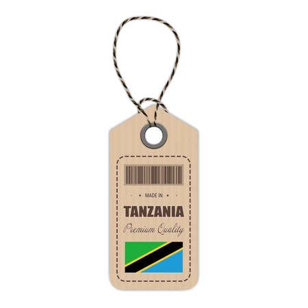 Tanzania flag hang tag design.