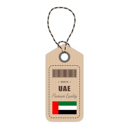 UAE flag hang tag design.