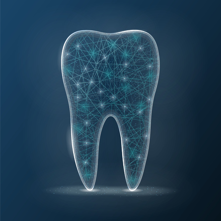 Dental Care Tooth Icon Isolated On A Background. Vector Illustration. Healthcare Concept.