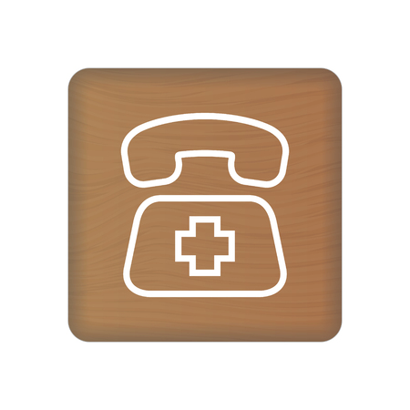Sos Icon. Rescue Services Phone Call Illustration Isolated On A Background. Vector Icon Illustration. Unique Pattern Design For Brochures, Web