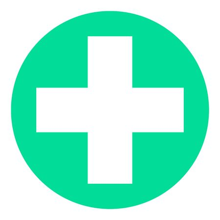 Medical Cross Icon. Health Care Illustration As A Simple Vector Sign and Trendy Symbol for Design and Websites, Presentation or Mobile Application.