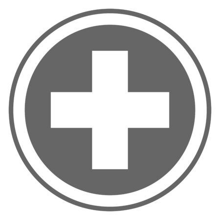 Cross Sign, Healthy Sign, Medical Sign, Medical, and Healthy Icon Vector.