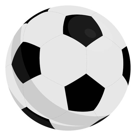 Football Soccer Ball With Classic Design Isolated On White Background.