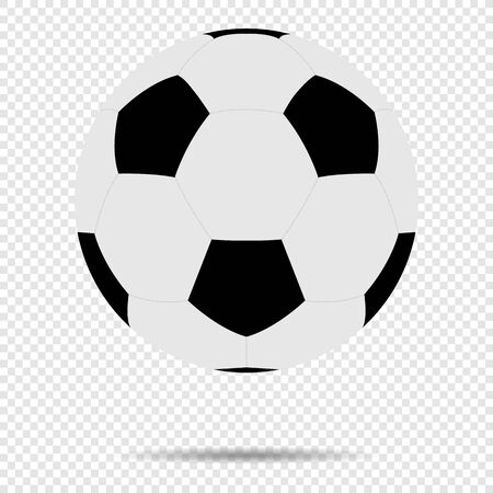 Soccer Ball With Classic Design Isolated On Transparent Background.