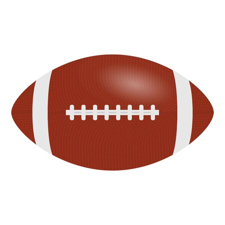 American Football, rugby ball isolated on a white background. Realistic Vector Illustration.