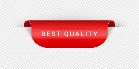 Best Quality Vector Sticker, Tag, Banner, Label, Sign Or Ribbon Realistic Red Origami Style Vector Paper Ribbon For Web Banner Or Print Poster. Illustration