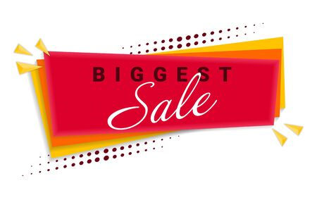 Biggest Sale Banner Template Design. Vector Illustration. Eps 10