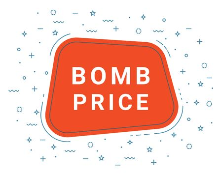 Bomb Price Speech Bubble Banner Sign, Design Template. Business Label Promo Offer. Imagens - 127734994