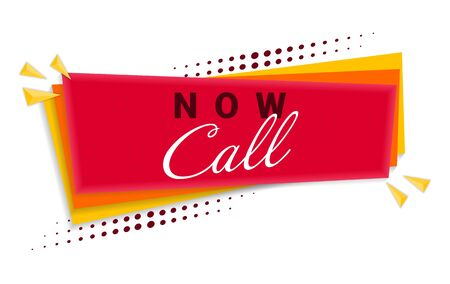 Call Now Banner Template Design. Vector Illustration Banque d'images - 127734992