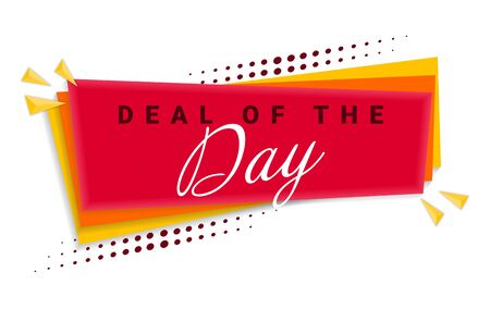 Deal Of The Day Banner Template Design. Vector Illustration.