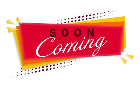 Coming Soon Banner Template Design. Vector Illustration.