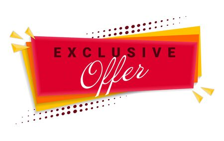 Exclusive Offer Banner Template Design