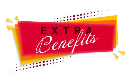 Extra Benefits Banner Template Design. 矢量图像