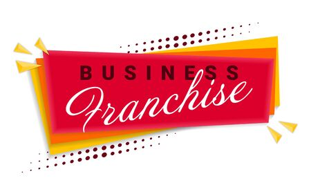 Franchise Banner Template Design.