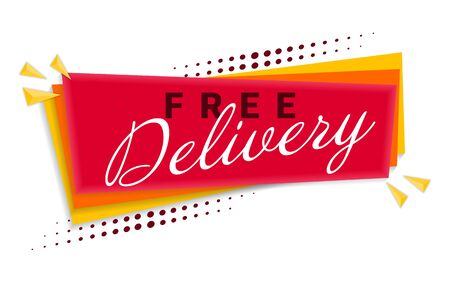 Free Delivery Banner Template Design.