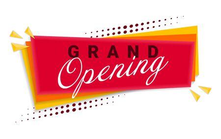 Grand Opening Banner Template Design. Vector Illustration. Ilustração