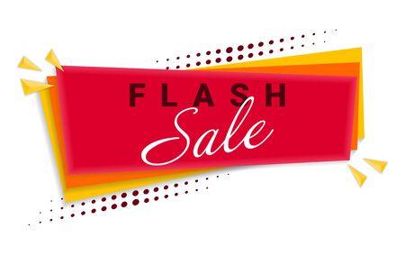 Flash Sale Banner Template Design. Ilustração