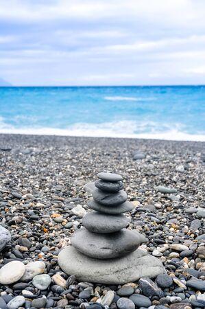 stack stone: Sea stack stone Stock Photo